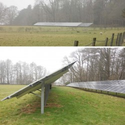 Ground mounted pv 's