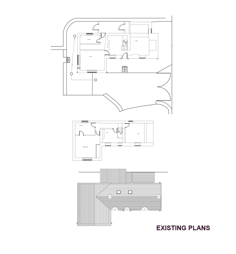 North wales architects greenheart architects existing for Floor plans for existing homes