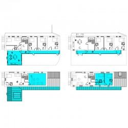 Modern design open plan barn living.