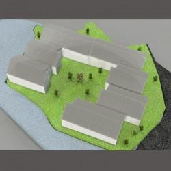 Modern design housing.