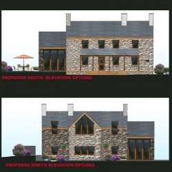Contemporary design welsh cottage extension.
