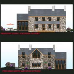 Contemporary design welsh cottage extension.