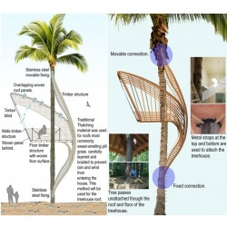 Nature inspired tree house design.