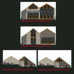 Sympathetic conversion barn design.