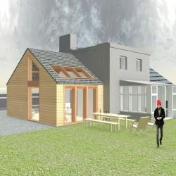 Modern design timber lounge extension.