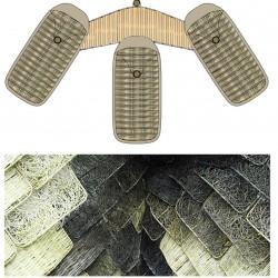 Natural building materials.