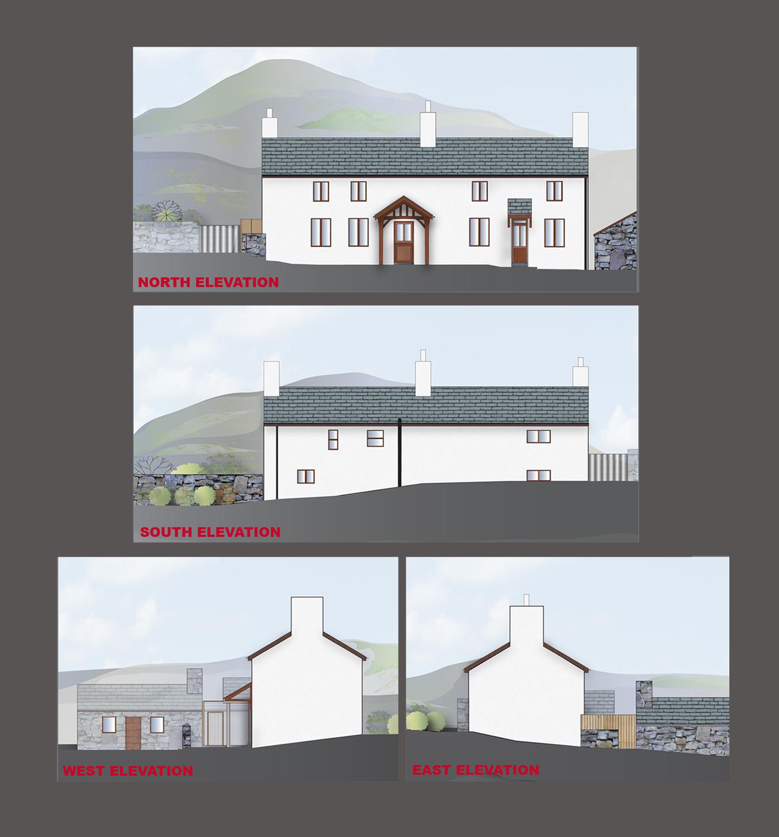 Stone cottage conversion.