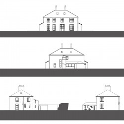 Manor house elevations